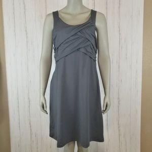 ATHLETA Tangelo Sport Ruched Gray Dress Size Large